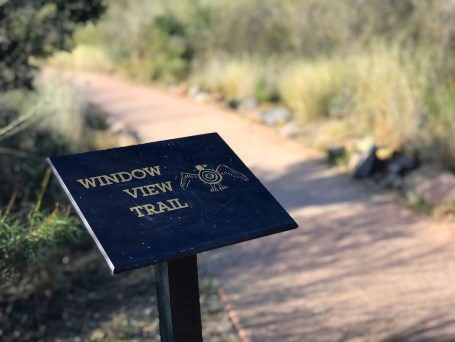 Window View Trail Sign