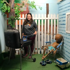 Jennifer Bourn having a Backyard Barbecue with an Alien