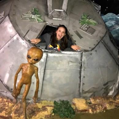 Jennifer Bourn Inside an Alien Spaceship