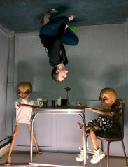 Natalie Bourn alien Photo Op in Roswell, New Mexico