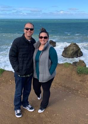 Brian and Jennifer Bourn at Mori Point