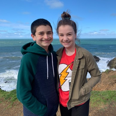 Carter and Natalie Bourn at Mori Point in Pacifica