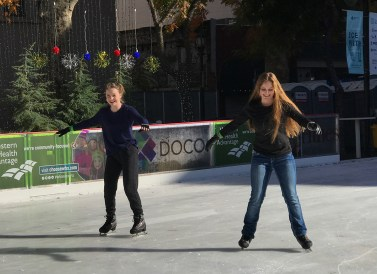Winter Ice Skating in Sacramento