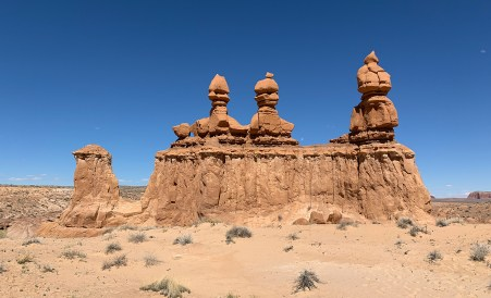Three Sisters Rock Formation at Goblin Valley