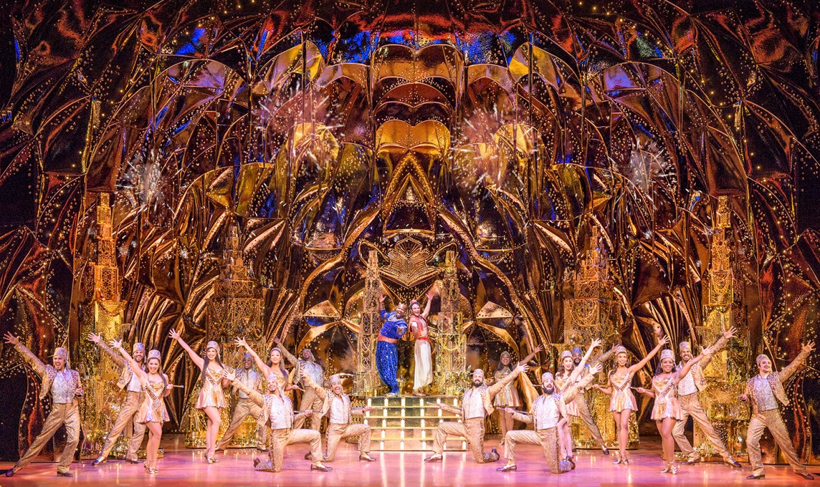 Cave of Wonders Set in Broadway Adaptation of Aladdin
