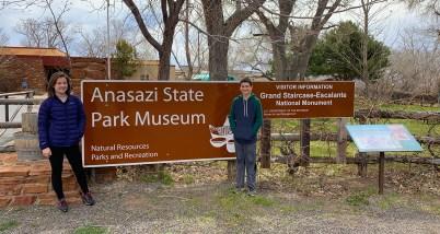 Anasazi State Park Museum Sign