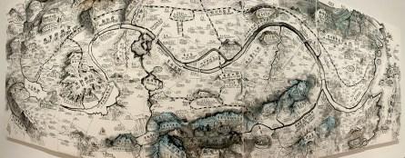 Ancient Map At The SF MOMA