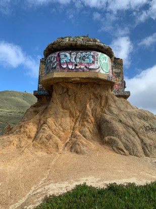 Graffiti on the Devil's Slide Bunker in Pacifica