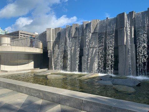 Martin Luther King Jr. Fountain at Yerba Buena Gardens in San Francisco