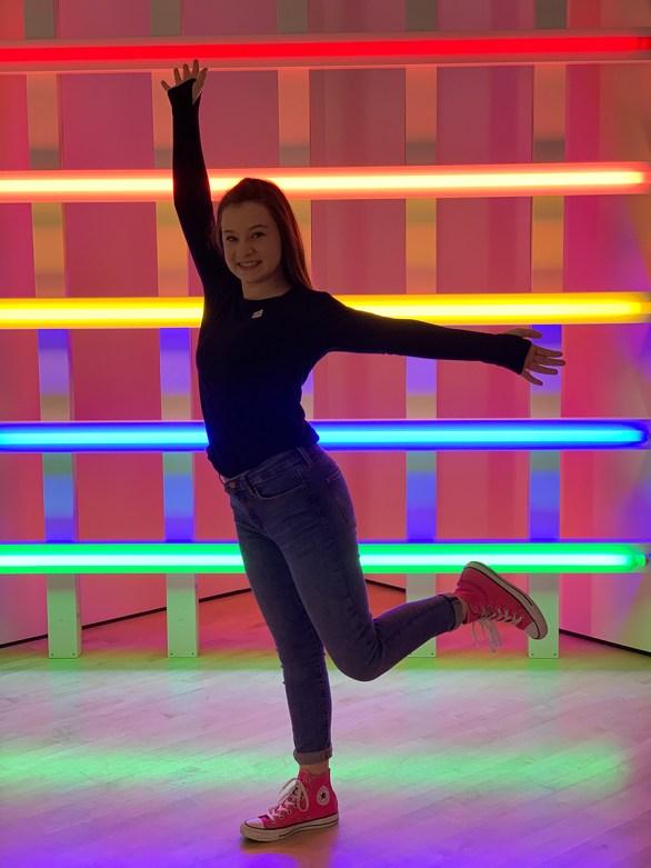 Natalie Bourn Visiting The SF MOMA