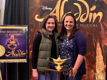 Natalie and Jennifer Bourn at Broadway Sacramento's Aladdin