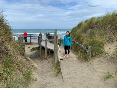 Natalie Bourn At The Start Of The Bodega Dunes Beach Boardwalk