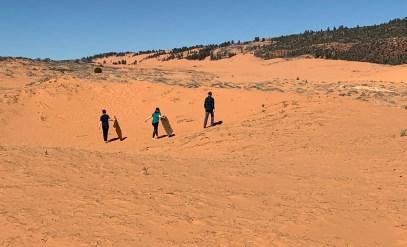 Cardboard Sledding In Utah