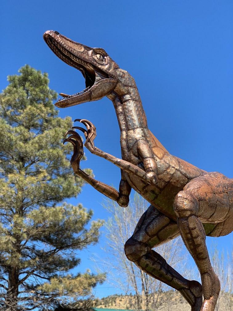 Roadside Dinosaur Statue in Orderville, Utah