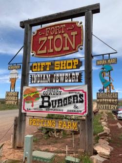 Fort Zion Sign