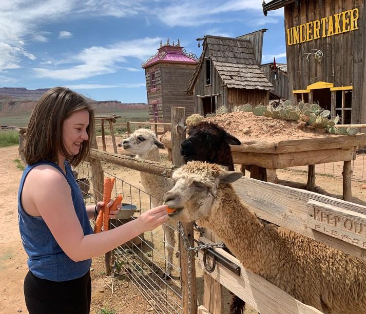 Natalie Bourn Feeding Animals