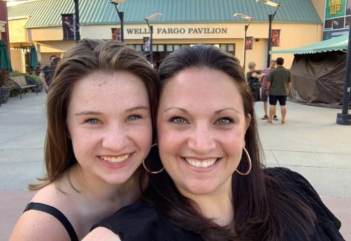 Natalie and Jennifer Bourn at Wells Fargo Pavilion