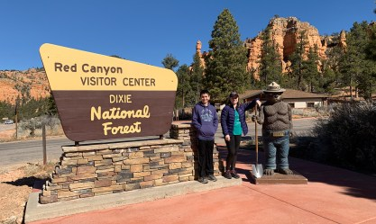 Red Canyon Welcome Sign