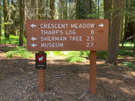 Crescent Meadow Trail Sign