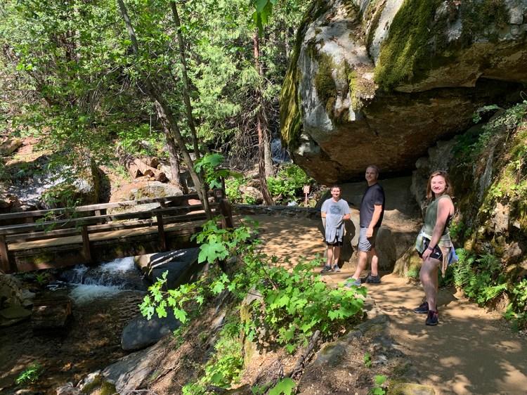 Crystal Cave Trail bridge