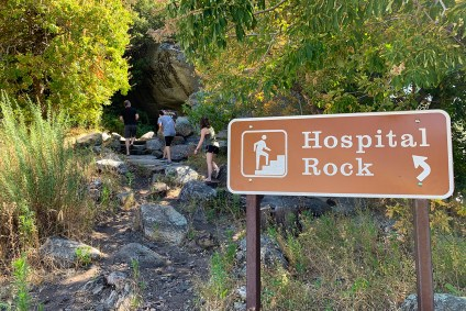 Hiking to Hospital Rock