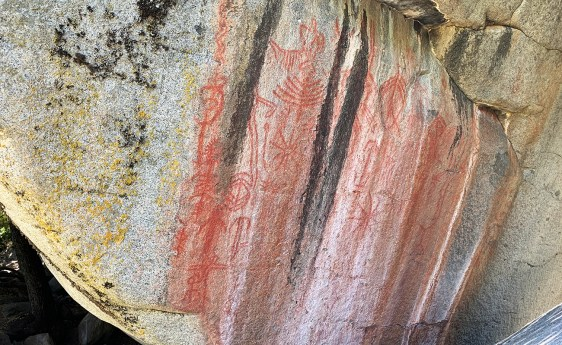 Pictographs on Hospital Rock