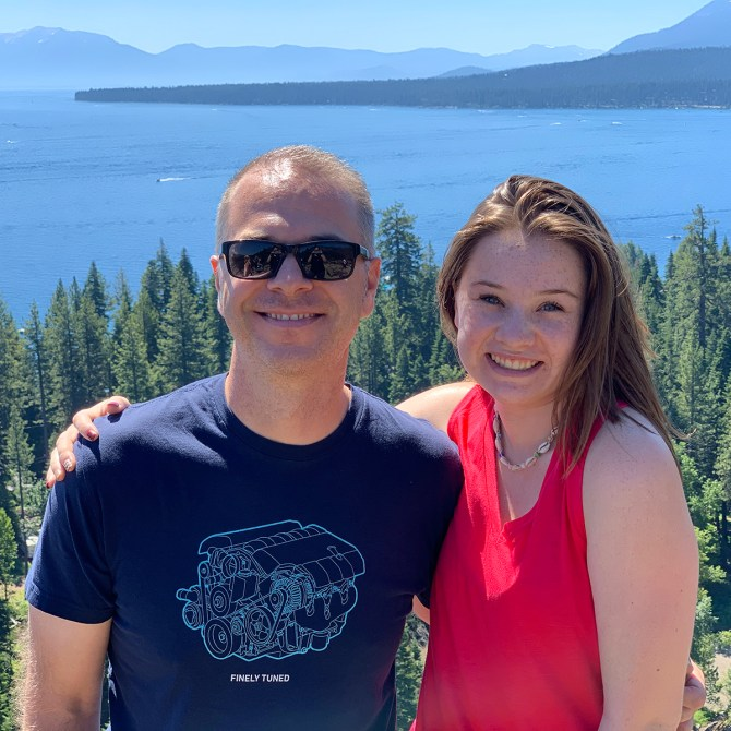 Brian and Natalie Bourn Lake Tahoe Vista Point