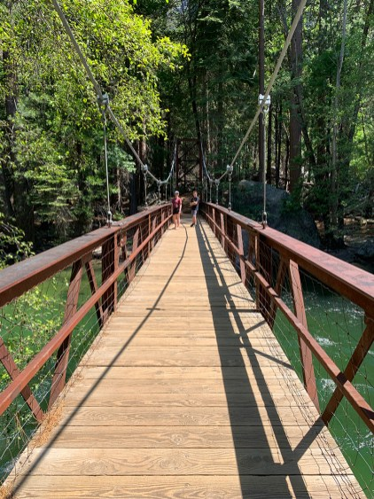 Crossing The Zumwalt Meadow Trail Bridge
