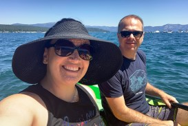 Jennifer Bourn and Brian Bourn Kayaking at Lake Tahoe