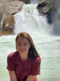 Natalie Bourn at Roaring River Falls