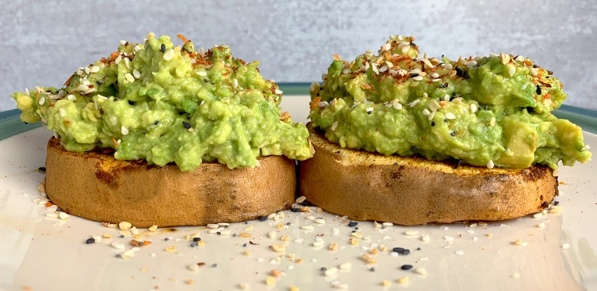 EVerything Bagel AVocado on Roasted Yam Slices