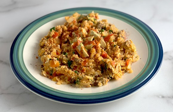 Veggie Scramble With Avocado