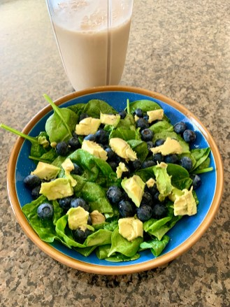Spinach Avocado Blueberry Salad
