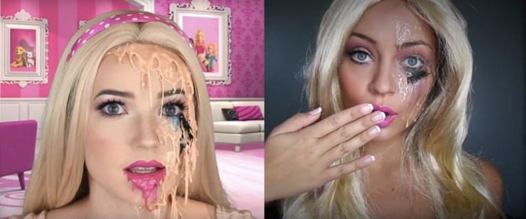 Melting Barbie Halloween Costume Idea