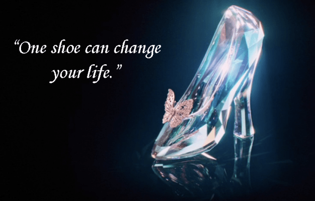Cinderella Glass Slipper Quote Footwear Heels Fashion