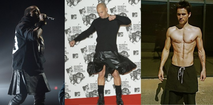 Kanye West Vin Diesel Jared Leto Fashion Menswear Skirts Androgynous