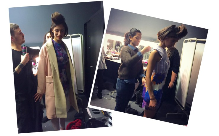Instituto Marangoni London Fashion Collection Sunna Naseer Shoot Backstage