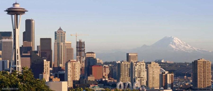 Seattle Space Needle City USA America North Skyline
