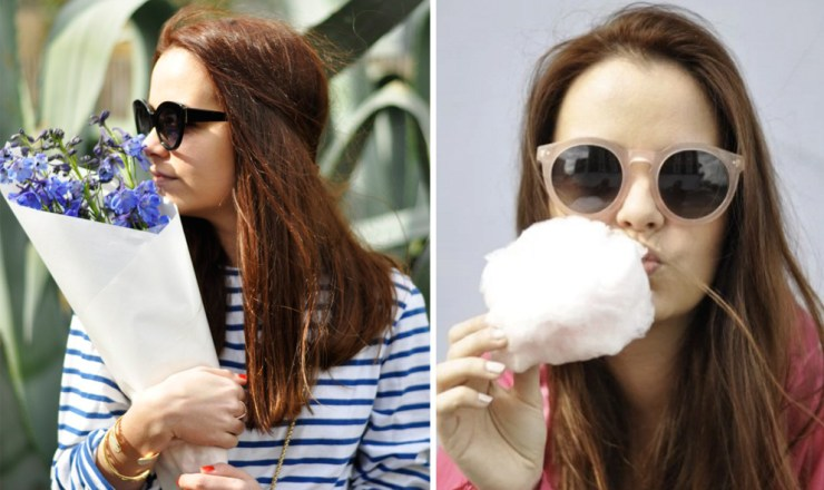 Sylvia Sparkles Dennis Stripes Flowers Sunglasses Candy Floss Girl Blog Blogger Fashion Style Travel French London