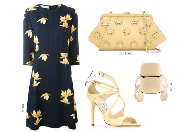 Designer Outfit Grid Farfetch Shopping Wedding Guest Style Marni Jimmy Choo