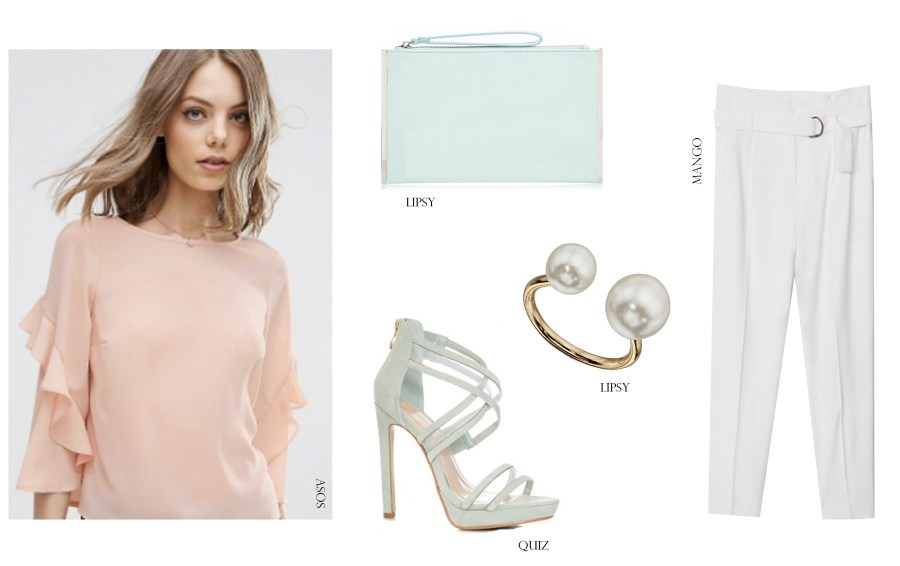 High Street Outfit Grid Shopping Wedding Guest Style ASOS Manog Lipsy