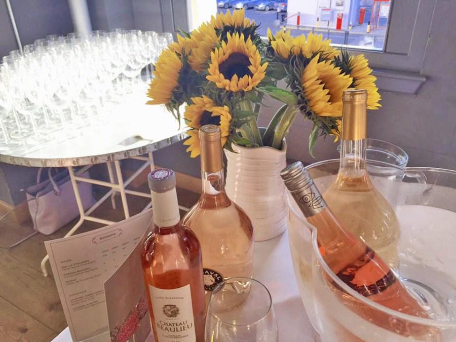 Aubaine Rose Wine Vineyard Sunflowers French Provencal Summer Provence Cuisine Food Review Press Launch London Marylebone