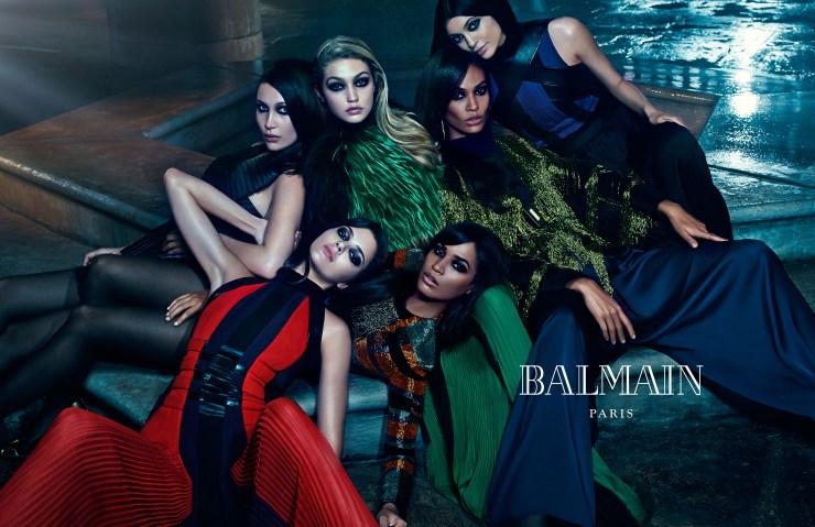 Balmain Fashion Editorial Campaign Racial Diversity Models