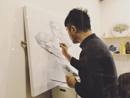 Fashion Salutes Art Favotell Artist Guang Yu Zhang Interview Woolff Gallery