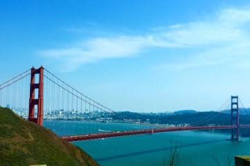 Golden Gate Bridge San Francisco California Ocean, Road Trip USA America Travel