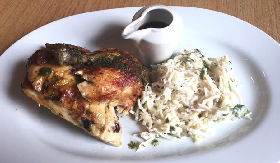 Tate Modern London Terrace Bar Food Roast Chicken