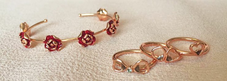 Ted Baker Rose Gold Jewellery Collection Bracelet Rings
