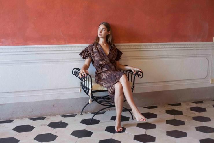 A-MM-E Fashion Design Leopard Print Dress Collection Interview Emma