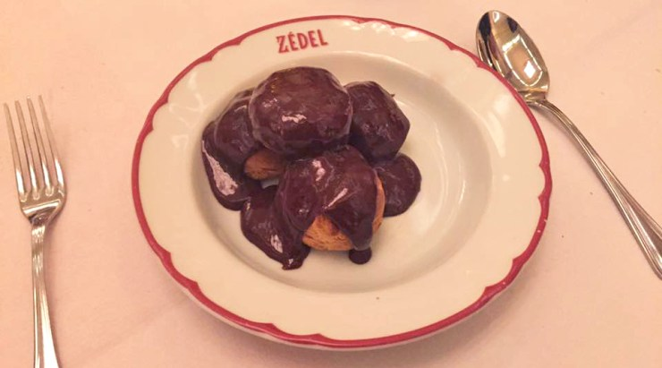 zedel-french-restaurant-food-london-picadilly-circus-dessert-profiteroles