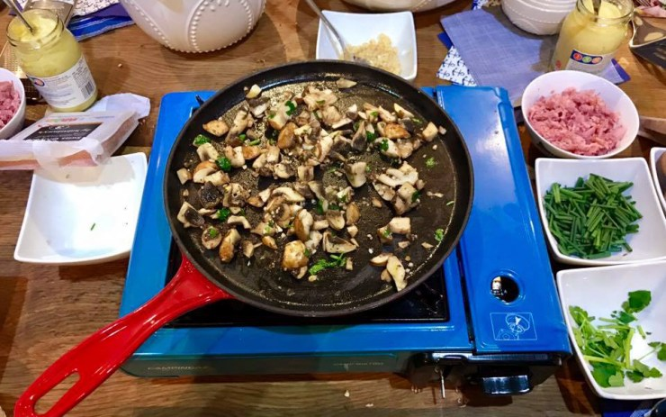 Pancake Day Mushrooms Food 52 Cookery School Old Street London Sainsburys Recipe Candice Brown British Bake Off Winner